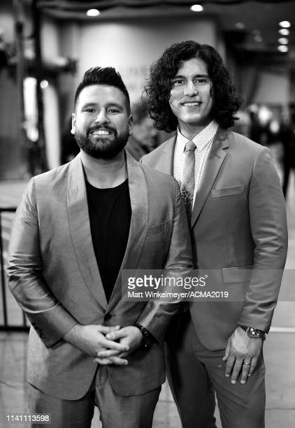 Shay Mooney and Dan Smyers of Dan Shay attend the 54th Academy Of Country Music Awards at MGM Grand Garden Arena on April 07 2019 in Las Vegas Nevada