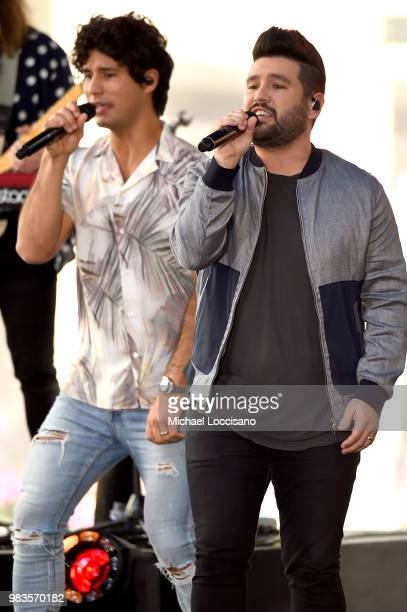 Shay Mooney and Dan Smyers of Dan Shay perform on NBC's 'Today' show at Rockefeller Plaza on June 25 2018 in New York City