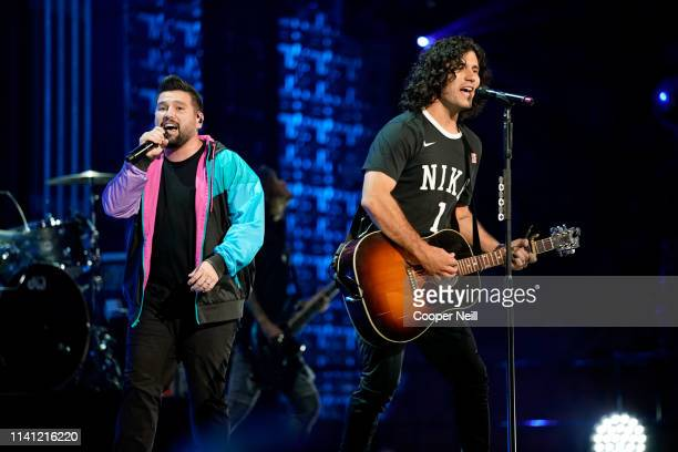 Shay Mooney and Dan Smyers of Dan Shay perform onstage during the 2019 iHeartCountry Festival Presented by Capital One at the Frank Erwin Center on...