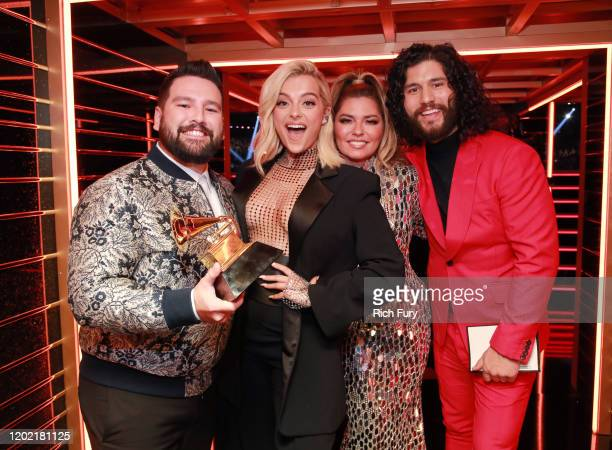 Shay Mooney Bebe Rexha Shania Twain and Dan Smyers attend the 62nd Annual GRAMMY Awards at STAPLES Center on January 26 2020 in Los Angeles California