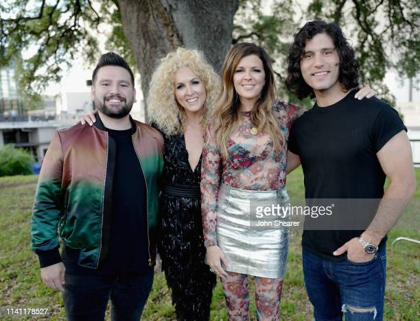 Shay Mooney of Dan Shay Kimberly Schlapman of Little Big Town Karen Fairchild of Little Big Town and Dan Smyers of Dan Shay are seen backstage at the...