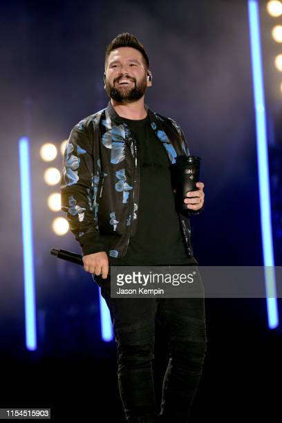 Shay Mooney of Dan Shay performs on stage during day 2 for the 2019 CMA Music Festival on June 07 2019 in Nashville Tennessee