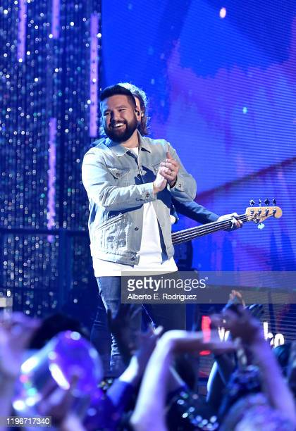 Shay Mooney of Dan Shay performs onstage during Dick Clark's New Year's Rockin' Eve with Ryan Seacrest 2020 Hollywood Party on November 23 2019 in...