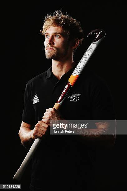 Shay Neal of the New Zealand Men's Hockey team poses for a portrait at QBE Stadium on February 13 2016 in Auckland New Zealand