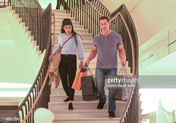 Shay Shariatzadeh and John Cena are seen on January 14 2020 in Los Angeles California