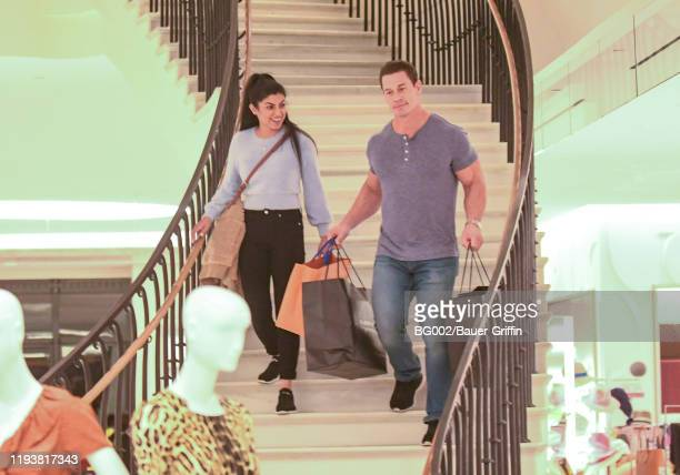 Shay Shariatzadeh and John Cena are seen on January 14, 2020 in Los Angeles, California.