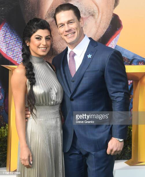 "Shay Shariatzadeh and John Cena arrives at the Premiere Of Universal Pictures' ""Dolittle"" at Regency Village Theatre on January 11, 2020 in Westwood,..."