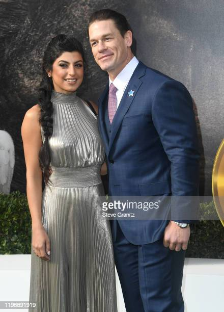 Shay Shariatzadeh and John Cena arrives at the Premiere Of Universal Pictures' Dolittle at Regency Village Theatre on January 11 2020 in Westwood...
