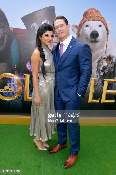 "Shay Shariatzadeh and John Cena attend the Premiere of Universal Pictures' ""Dolittle"" at Regency Village Theatre on January 11, 2020 in Westwood,..."