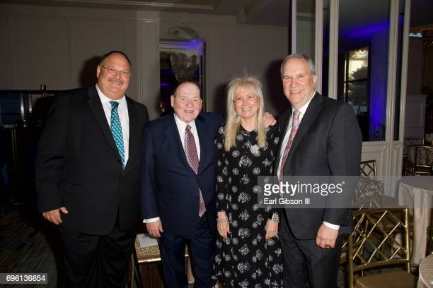 Shaya Ben Yahuda Sheldon Adelson Miriam Adelson and Ron Meier attend the American Society for Yad Vashem and the Jewish Life Foundation's Salute To...