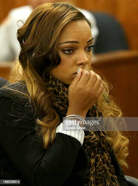 Shayanna Jenkins girlfriend of former New England Patriots player Aaron Hernandez at a pretrial conference in Fall River