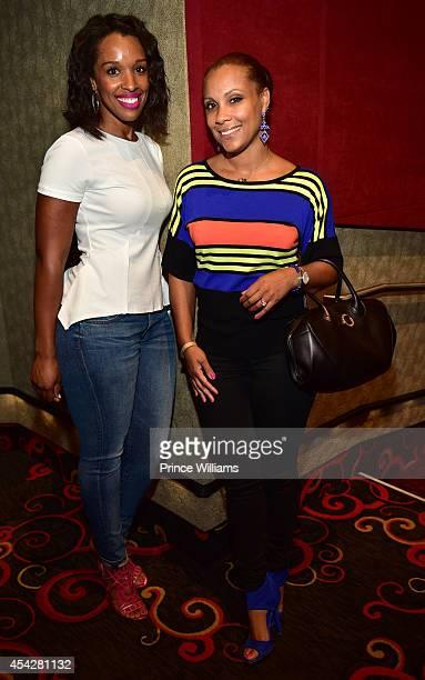 Shayla Cowen and Heather Hayslett attend the Atlanta screening of No Good Deed at Strip Atlantic Station on August 27 2014 in Atlanta Georgia