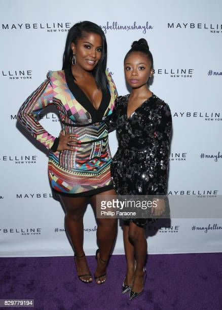 Shayla Mitchell and Skai Jackson attend Maybelline New York Celebrates First Ever Cobranded Product Collection With Beauty Influencer Shayla Mitchell...