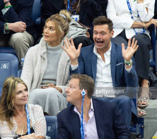 Shayna Taylor and Ryan Seacrest at Day 14 of the US Open held at the USTA Tennis Center on September 9, 2018 in New York City.