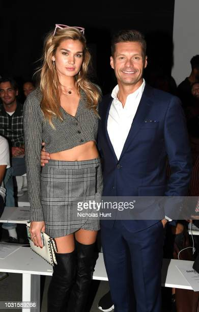 Shayna Taylor and Ryan Seacrest attend the Naeem Khan front Row during New York Fashion Week The Shows at Gallery I at Spring Studios on September 11...