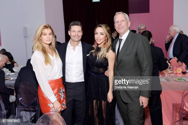 Shayna Taylor LACMA Trustee Ryan Seacrest Katia Francesconi and LACMA Trustee Steve Tisch attend LACMA 2017 Collectors Committee Gala at LACMA on...