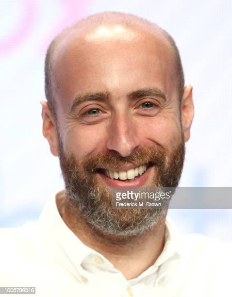 Shayne Allen Head of Comedy/BBC Studios of the television show Hold the Sunset for the BritBox Network speaks during the Summer 2018 Television...