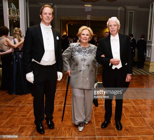 Shayne Doty Jacqueline Mars and David Badger attend The International Debutante Ball at The Pierre Hotel on December 29 2018 in New York City