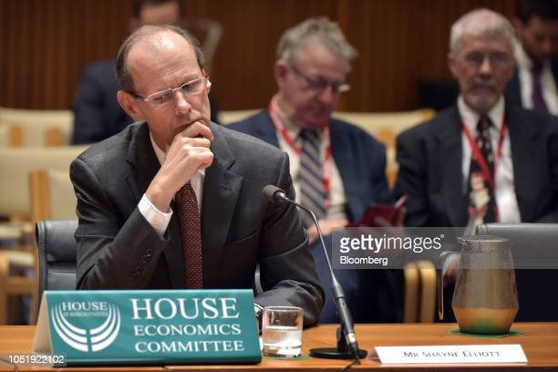 Shayne Elliott chief executive officer of Australia and New Zealand Banking Group Ltd attends a hearing before the House of Representatives economics...