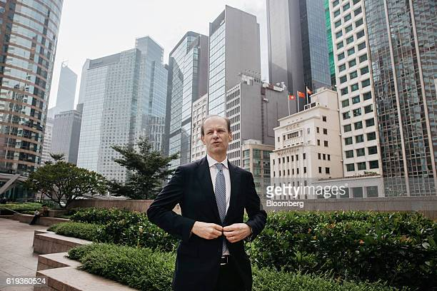 Shayne Elliott chief executive officer of Australia New Zealand Banking Group Ltd prepares for a photograph in Hong Kong China on Monday Oct 31 2016...