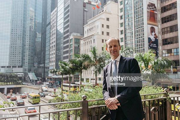 Shayne Elliott chief executive officer of Australia New Zealand Banking Group Ltd poses for a photograph in Hong Kong China on Monday Oct 31 2016 DBS...
