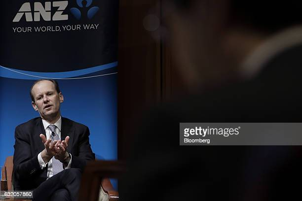Shayne Elliott chief executive officer of Australia New Zealand Banking Group Ltd speaks during an event in Tokyo Japan on Thursday Jan 19 2017...