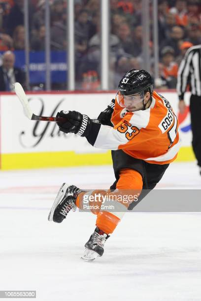 Shayne Gostisbehere of the Philadelphia Flyers in action against the Florida Panthers during the second period at Wells Fargo Center on November 13...