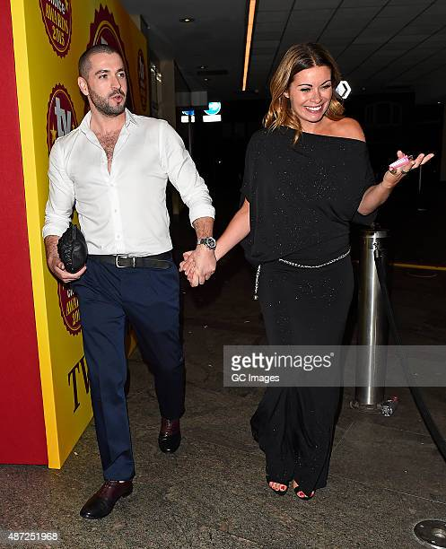 Shayne Ward and Alison King attend the TV Choice Awards on September 7 2015 in London England
