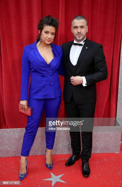 Shayne Ward and wife Sophie Austin attend the British Soap Awards 2018 at Hackney Empire on June 2 2018 in London England