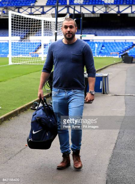 Shayne Ward arrives for the Bradley Lowery charity match at Goodison Park Liverpool PRESS ASSOCIATION Photo Picture date Sunday September 3 2017 See...