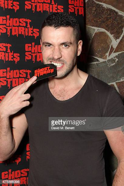 Shayne Ward attends the after party for the press night of Ghost Stories at on February 27 2014 in London England