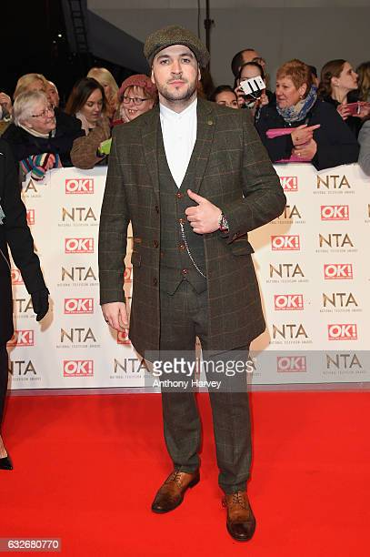 Shayne Ward attends the National Television Awards on January 25 2017 in London United Kingdom