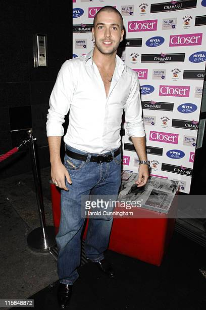 Shayne Ward during Brian Friedman Birthday Party Outside Arrivals at Punk in London Great Britain