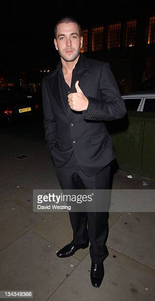 Shayne Ward during Sharon Osbourne and Ozzy Osbourne's Christmas Party December 19 2006 at 30 Pavilion Road in London Great Britain