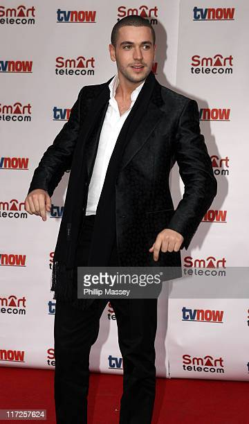 Shayne Ward during The Smart Telecom TVNow Awards Arrivals at Mansion House in Dublin Great Britain