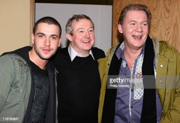 "Shayne Ward, Louis Walsh and Johnny Logan during ""The Late Late Show"" - January 18, 2007 at RTE Studios in Dublin, Ireland."