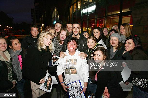 Shayne Ward meets his fans during Shayne Ward's homecoming and radio tour for his new album 'Obsession' at Manchester's Key 103 Radio Station on...