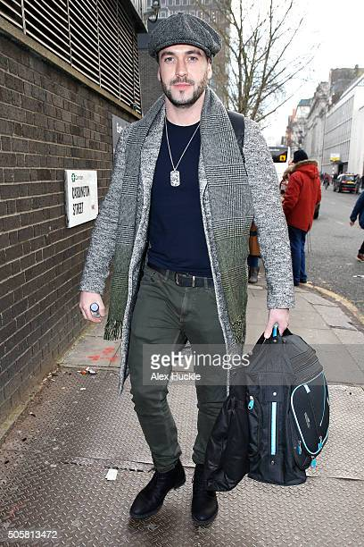 Shayne Ward seen arriving at Euston Station ahead of the National Television Awards on January 20 2016 in London England
