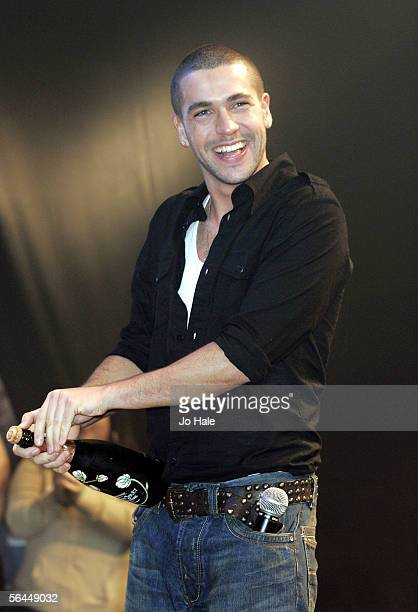 Shayne Ward winner of XFactor performs on stage at GAY at The Astoria on December 17 2005 in London England
