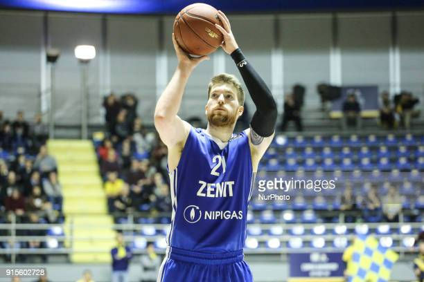 Shayne Whittington during the EuroCup basketball match between Fiat Torino Auxilium and Zenit St Petersburg at PalaRuffini on 07 February 2018 in...