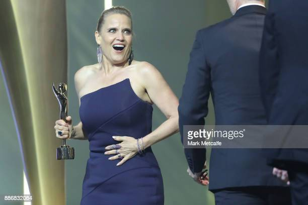 Shaynna Blaze accepts the AACTA Award on behalf of Selling Houses for Best Lifestyle Television Program during the 7th AACTA Awards Presented by...