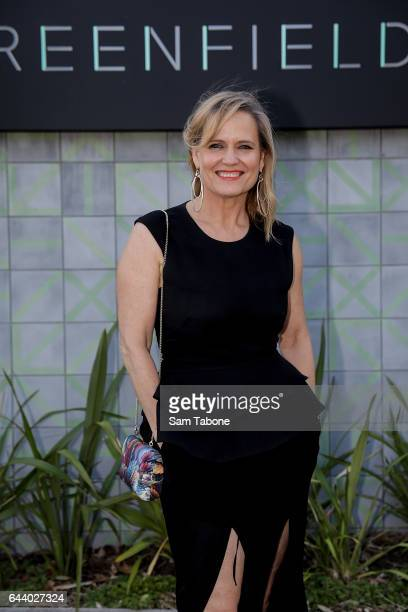 Shaynna Blaze arrives ahead of the Greenfields Cocktail Launch Event on February 23 2017 in Melbourne Australia