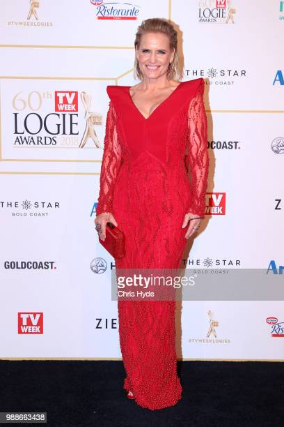 Shaynna Blaze arrives at the 60th Annual Logie Awards at The Star Gold Coast on July 1 2018 in Gold Coast Australia