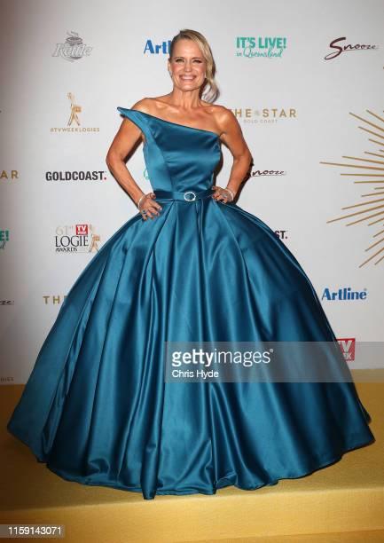 Shaynna Blaze arrives at the 61st Annual TV WEEK Logie Awards at The Star Gold Coast on June 30 2019 on the Gold Coast Australia