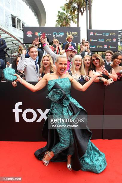 Shaynna Blaze attends the 2018 AACTA Awards Presented by Foxtel at The Star on December 5 2018 in Sydney Australia