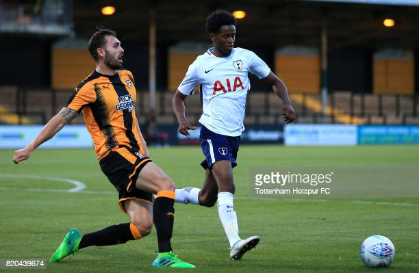 Shayon Harrison of Tottenham Hotspur during the pre season friendly match between Cambridge United and Tottenham U23 at Cambs Glass Stadium on July...