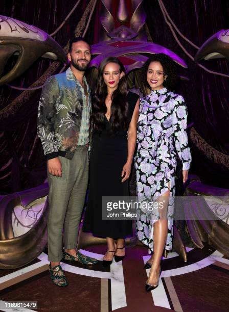 Shazad Latif Hannah JohnKamen and Nathalie Emmanuel attend The Dark Crystal Age of Resistance European Premiere at BFI Southbank on August 22 2019 in...