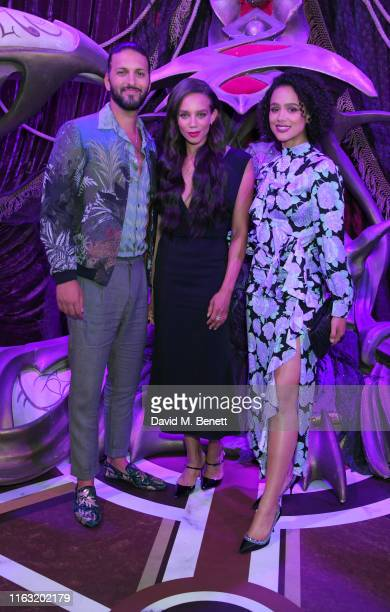 Shazad Latif Hannah JohnKamen and Nathalie Emmanuel attend the European Premiere of The Dark Crystal Age of Resistance at the BFI Southbank on August...
