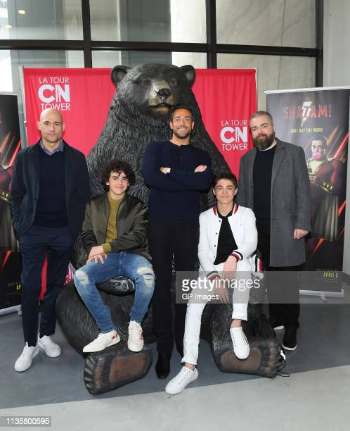 Shazam! cast Mark Strong, Jack Dylan Grazer, Zachary Levi, Asher Angel and Director David F. Sandberg attend the Big Brothers And Sisters meet and...