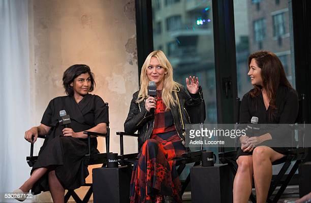 Shazi Visram Zanna Roberts Rassi and Randi Zuckerberg discuss Celebrate Working Mothers With Alicia Ybarboat at AOL Studios In New York on May 10...